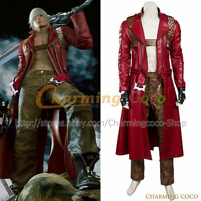 $179.54 • Buy Devil May Cry 3 Dante Cosplay Costume Adult Uniform Men Full Set Outfit Amazing