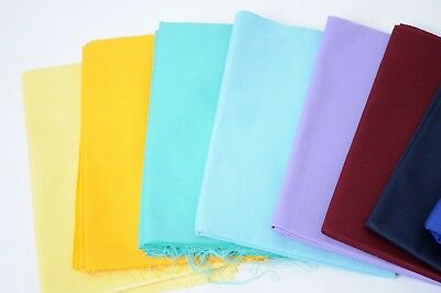 £3.99 • Buy Plain Polyester Cotton Twill 210 GSM Fabric Poly Cotton Clothing Fabric Craft