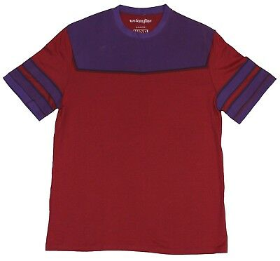Magneto (Marvel Comics) Mens T-Shirt - Classic Maroon Costume Front Image • 10.71£