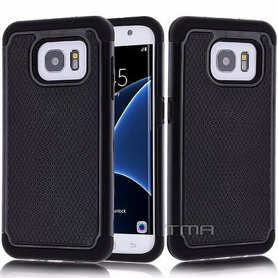 $ CDN6.79 • Buy Fits Samsung Galaxy S7 Edge Case Shockproof Rugged Impact Hybrid  Cover - Black