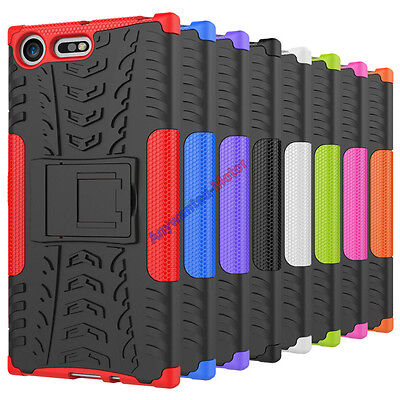 AU8.37 • Buy For Sony Xperia XZ Premium Case Tough Armor Shockproof Rugged Kickstand Cover