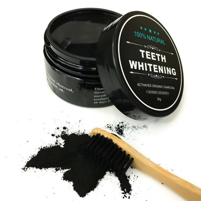AU27.95 • Buy 4 PACK Activated Charcoal Teeth Whitening Powder (2 Toothbrushes & 2 Charcoal)