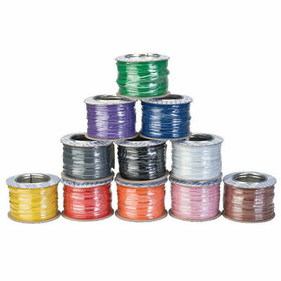 1/0.6MM Solid Core Equipment Wire 1.8 A @ 1000V RMS Max All Colours 100M Reels • 14.99£