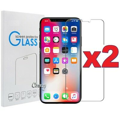 AU3.95 • Buy Tempered Glass Screen Protector For IPhone 12 11 X XS Max XR SE 5S 6 6S 7 8 Plus