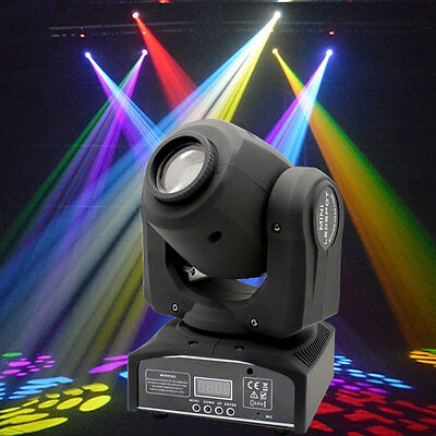 30W GOBO Stage Lighting Spot RGBW LED Moving Head DMX Disco DJ Party Light UK • 55.19£