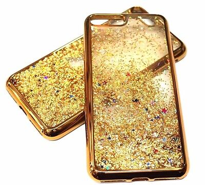 AU10.23 • Buy For IPhone 7+ PLUS - Gold Trim Glitter Stars Sparkle Liquid Waterfall Case Cover