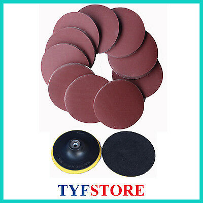 $ CDN25.49 • Buy 100pcs 5inch(125mm) 320 Grit Sanding Disc Sandpaper Disks With Free Wheel Pad
