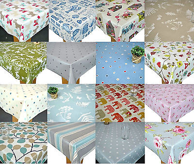 Clarke & Clarke PVC Cotton Oilcloth WIPE CLEAN Tablecloth New Designs For 2020 • 12.99£