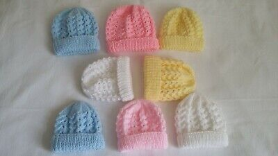 Baby Premature & Newborn Hand Knit Hats New • 4.30£