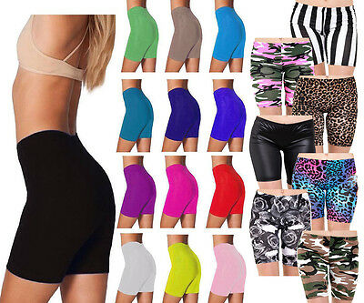 £4.45 • Buy Womens Ladies Cycling Stretchy Printed Short Active Dancing Sports Gym Plus Size