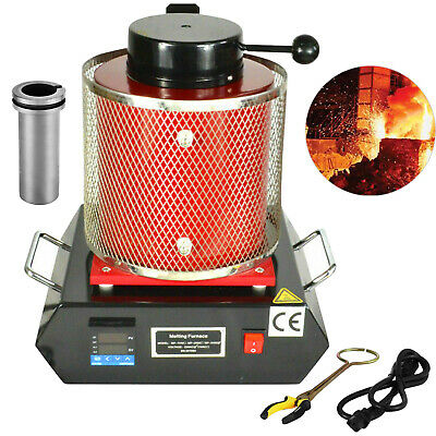 2KG Automatic 220V Electric Melting Furnace, Jewlery - Silver Gold Metal Melting • 183.57£