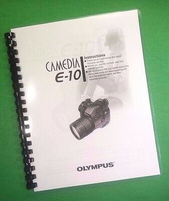 $28.39 • Buy LASER 8.5X11  Olympus E-10 Camera 203 Page Owners Manual Guide