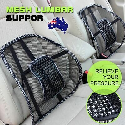 AU9.99 • Buy Mesh Back Rest Lumbar Support Office Chair Van Car Seat Home Pillow Cushion New