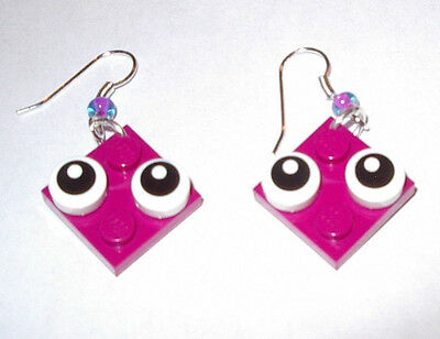 $16.99 • Buy 7 Girl Party Favors Lego Earring Plate Purple Red Yellow White Orange Lime Aqua