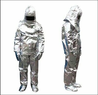Thermal Radiation 1000 Degree Heat Resistant Aluminized Suit Fireproof Clothes E • 130.66$