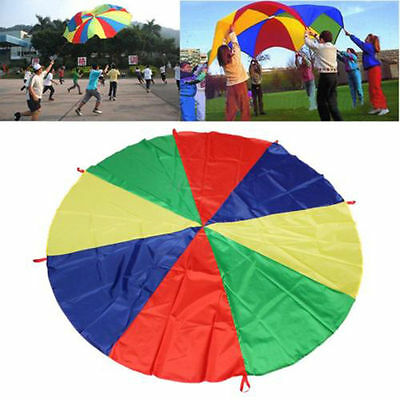 6ft Kids Play Rainbow Parachute Outdoor Game Exercise Sport Group Activities • 7.99£