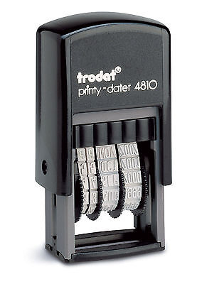 £5.95 • Buy Date Stamp - Self Inking Rubber Stamp - Mini Dater 4810 - Trodat - 70169