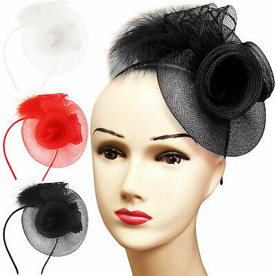 Ladies Day Womens Feather Looped Fascinator Races Wedding Occasion Headband Band • 2.99£