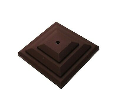 """£7.50 • Buy Linic 5 X Brown 4"""" 100mm Plastic Fence Post Cap Top Finial UK Made GT0048"""
