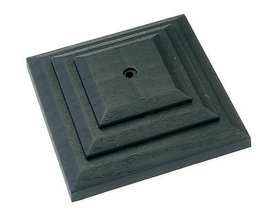 """£6.95 • Buy Linic 5 X Black 3"""" 75mm Plastic Fence Post Cap Top Finial UK Made GT0043"""