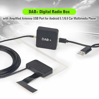 DAB+ Digital Radio Box MCX Amplified Antenna For Android 5.1/6.0/7.1 Car Stereo • 30.28£