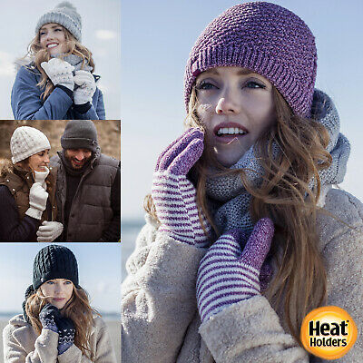 £14.29 • Buy Heat Holders - Ladies Cable Knit Warm Insulated Thermal Winter Weather Gloves