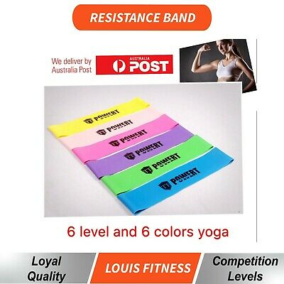 AU17.91 • Buy 5 SET Heavy Duty POWER YOGA RESISTANCE BANDS LOOP Fitness Gym  Exercise Workout