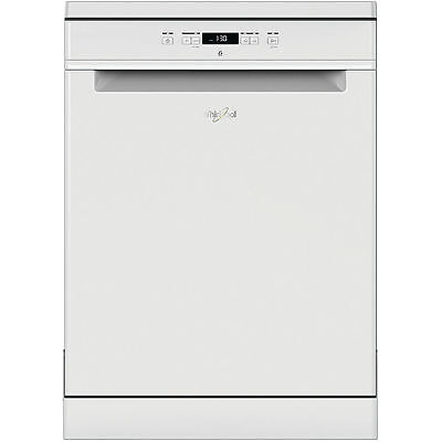 View Details Whirlpool WFC3C26UK Full Size White Freestanding 14 Place Settings Dishwasher • 369.00£