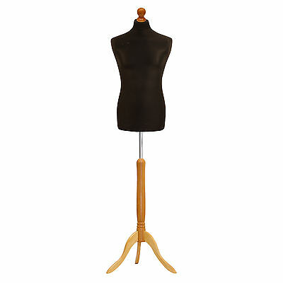 Tailors Dummy Male Black Dressmakers Bust Retail Display Fashion Mannequin ❤ • 28.24£