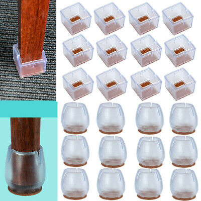AU17.57 • Buy 24 X Chair Leg Silicone Caps Pad Furniture Table Feet Cover Wood Floor Protector
