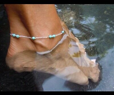 £2.19 • Buy Beautiful Anklet, Foot Chain, Payal, With Blue Beads UK Seller