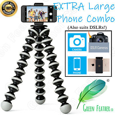 AU27.95 • Buy XLARGE Flexible Gorilla Tripod | Phone + Camera Combo | IPhone Samsung Camera