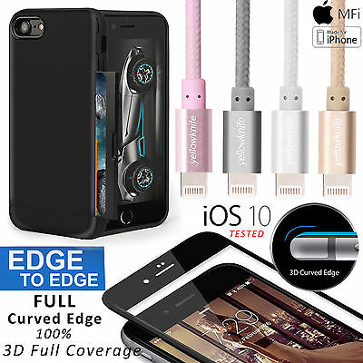 AU35.99 • Buy 3-IN-1 For IPhone 7/7 Plus Case, MFI Metal 2A Faster Lightning Cable Card Cover