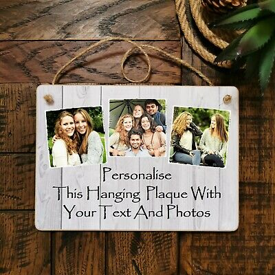£9.99 • Buy 8x6  Personalised Plaque Photos Friendship Family Friend Gift Birthday Present