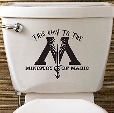 £2.49 • Buy Harry Potter Ministry Of Magic Toilet Vinyl Decal Sticker House Fantastic Beasts