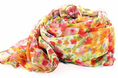 $4.98 • Buy Women's Fashion Floral Colorful Polyester Scarf Multi Scarves Wraps