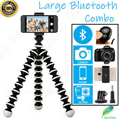 AU28.95 • Buy LARGE Flexible Gorilla Tripod | The New BLUETOOTH Combo | IPhone Samsung GoPro