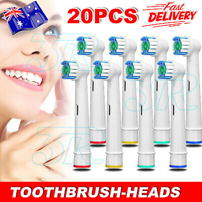 AU18.90 • Buy 20x Replacement Toothbrush Heads Electric Brush For Oral B Braun Models Series