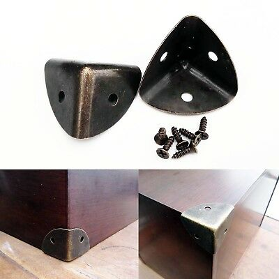 £3.49 • Buy 12pcs Thick Metal Jewelry Chest Wine Box Wood Case Trunk Table Corner Protector