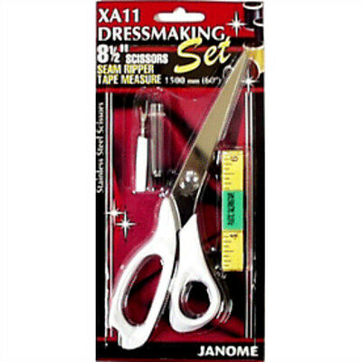 Janome XA11 Scissors S/Rip T/Measure Dressmaking Set • 7.46£