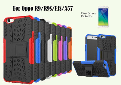 AU2.50 • Buy  For Oppo R9 R9S F1s A57 TPU Heavy Duty Kick Stand Case & Screen Film