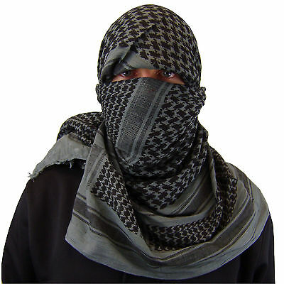 $11.99 • Buy Military Army Shemagh Tactical Desert Keffiyeh Scarf 100% Cotton Scarves Roman