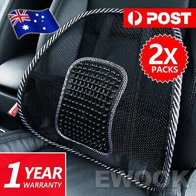 AU13.85 • Buy 2x Mesh Lumbar Back Support For Office Home Car Seat Chair Truck Pillow Cushion