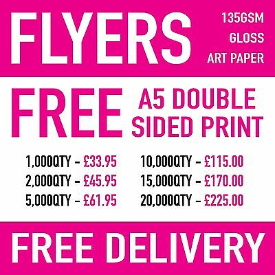 £33.95 • Buy A5 Flyers / Leaflets - Double Sided Free
