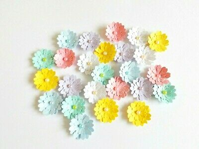 Daisy Flower Papercraft Embellishments Card Making Scrapbooking Floral Crafts • 4.50£