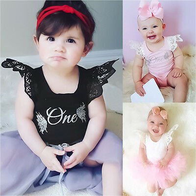 AU8.49 • Buy 1st Birthday Newborn Baby Girl Romper Bodysuit Jumpsuit Casual Clothes Outfits