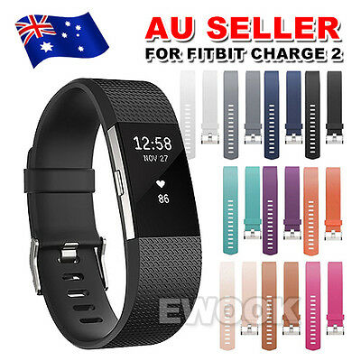 AU4.45 • Buy Replacement Silicone Gel Band Strap Bracelet Wristband For Fitbit Charge 2 Sport
