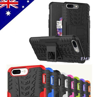 AU8.99 • Buy For OnePlus 5 5T Shockproof Heavy Duty Tough Kickstand Rugged Bumper Case Cover