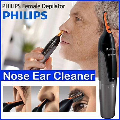 AU36 • Buy PHILIPS NT3160 Nose Ear Eyebrow Hair Trimmer Shaver - Washable/No Pulling/No Cut