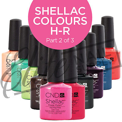 AU23.95 • Buy CND SHELLAC Color Coat 7.3ml - Colours H - R  (Part 2 Of 3)